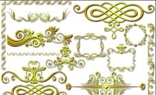 金色花邊裝飾圖片