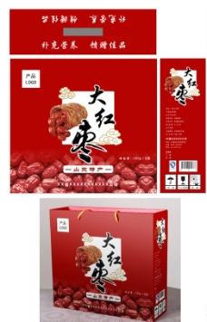 红枣包装盒(平面图)图片