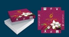 时尚唯美浪漫花朵包装盒子图片