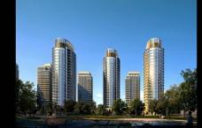 高档小区建筑效果图图片