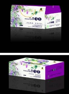 葡萄包装盒 (展开图)图片
