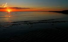 海洋落日图片
