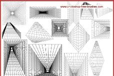 空间网格线笔刷