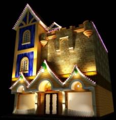 影楼室外模型图片