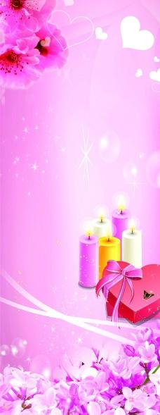 粉紅色背景素材圖片