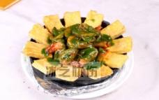 铁板韭香虾图片