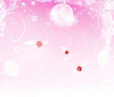 梦幻粉色背景图片