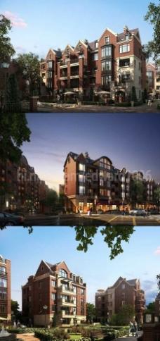 高档花园洋房住宅区MAX效果图图片