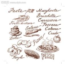 手繪食物图片