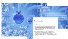 蓝色圣诞节 雪花图片