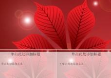 漂亮的红叶背景PPT模板图片