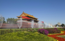 天安门喷泉图片