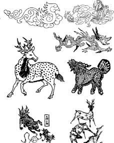 动物花纹矢量图案图片