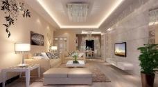 室内客厅设计表现图片