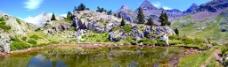 山区水池图片