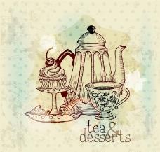 怀旧茶水蛋糕图片