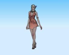 游戏美女3d模型图片