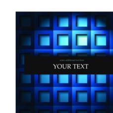 矢量创意方格蓝色背景素材