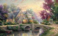 Thomas Kinkade 托马斯油画图片