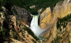 峡谷飞瀑图片