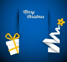 叠纸圣诞标签图片