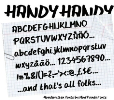 手写风格字体