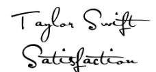 绝美手写签名字体