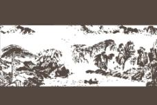 山水矢量图片
