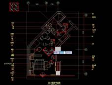 上海礼顿国际公寓B3 1型样板间施工图图片