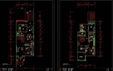 西安中海230别墅样板间施工图图片