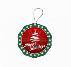 圣诞系列商品吊牌标签图片