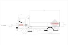 大型货车VI勾线图图片