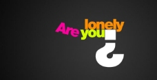 are you lonely 字母图片