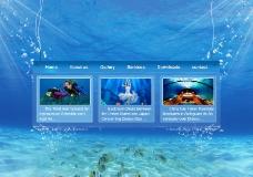海洋主题网页图片