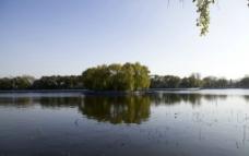 什刹海湖心岛图片