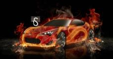 烈焰跑车图片