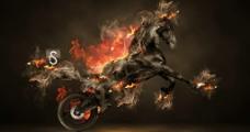 烈焰摩托图片