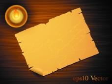 矢量牛皮纸木纹背景素材