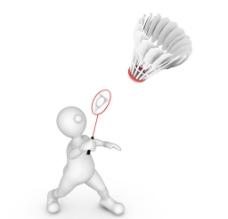 3d小人打羽毛球图片