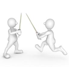 3d小人击剑图片