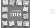 2013年创意台历图片