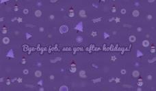 紫色圣诞节壁纸图片