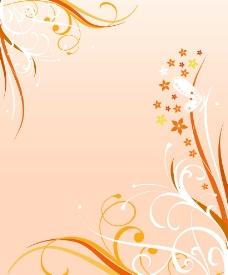 曲线橙色花图片