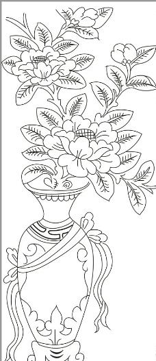 花开富贵 花瓶图片