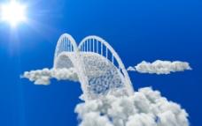 云做的桥图片