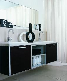 黑白卫浴图片
