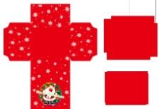 圣诞节红色雪花展示盒图片