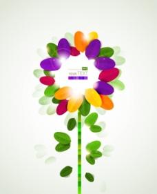 矢量水彩花卉背景素材