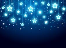 星星发光背景