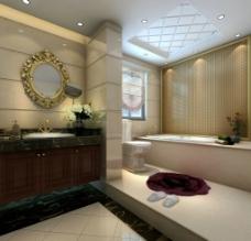 欧式家装主卧卫生间图片